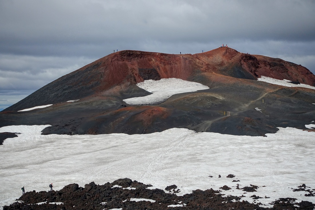 Red mountain in Iceland