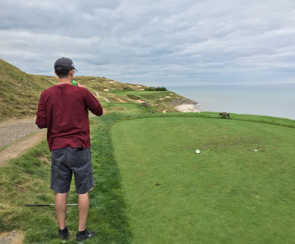 Golfing at Whistling Straits