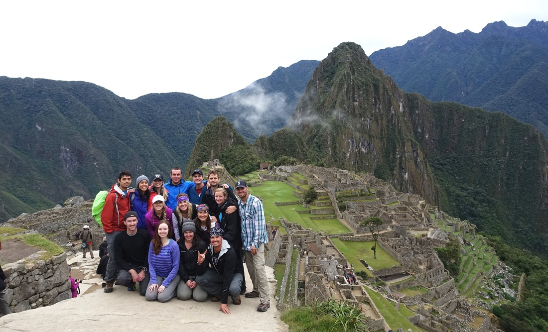 Group photo in Peru