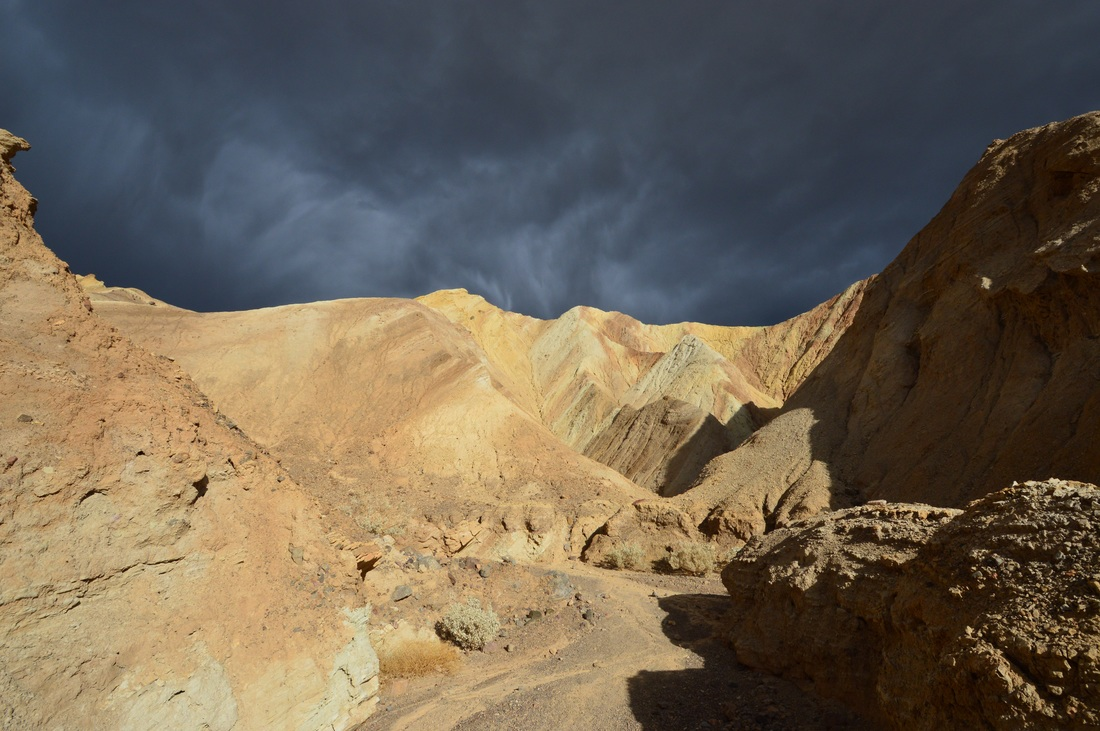 Storms over death valley
