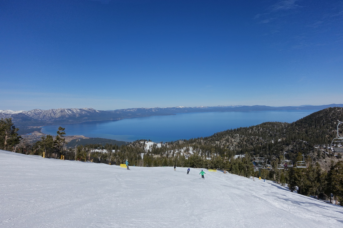 Ridge run at Heavenly ski resort
