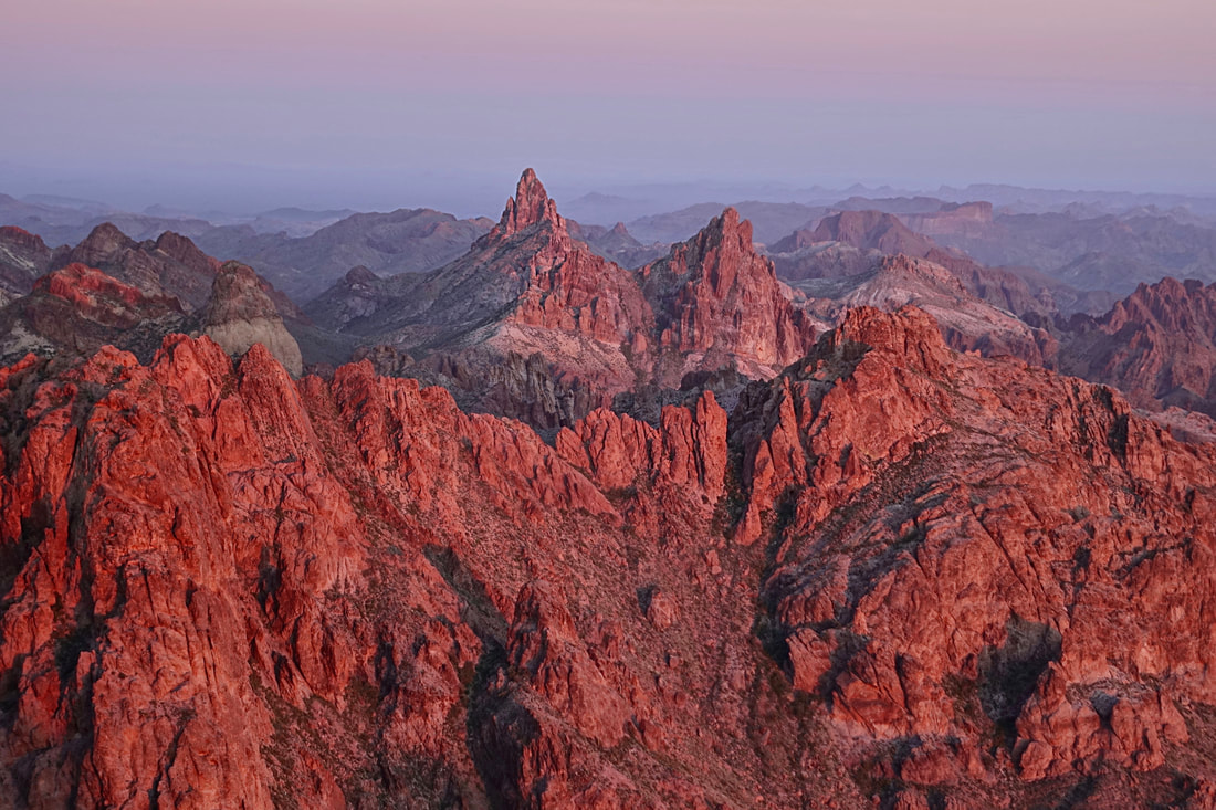 Signal peak hike in the Kofa mountain range of Arizona