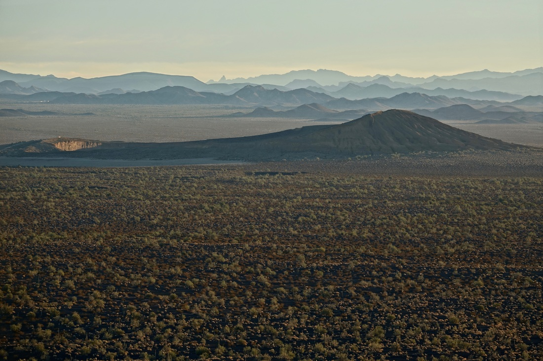 View from the hike above the Tecolote camp in El Pinacate y Gran Desierto de Altar