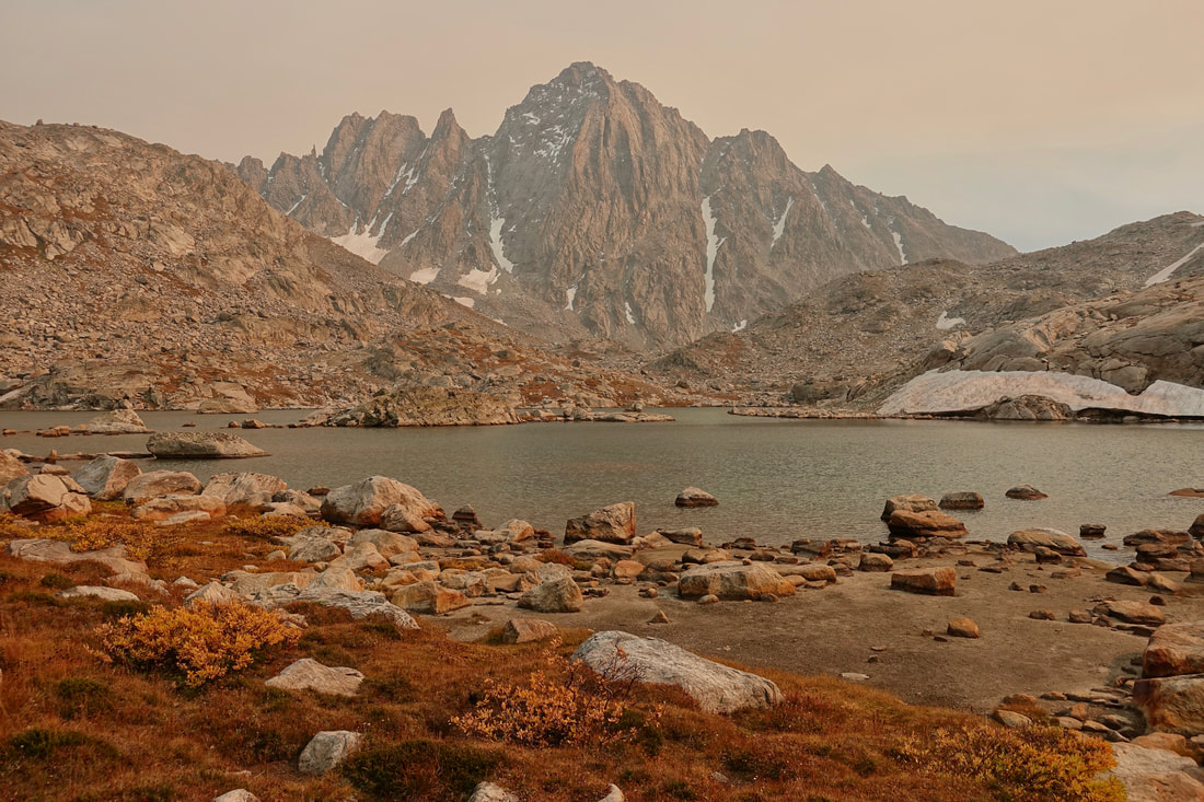 Smoky Indian Basin and Harrower Peak in Wind River Range