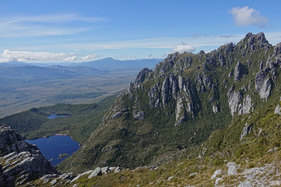 Lake Neptune and Triton in the Western Arthurs in Tasmania