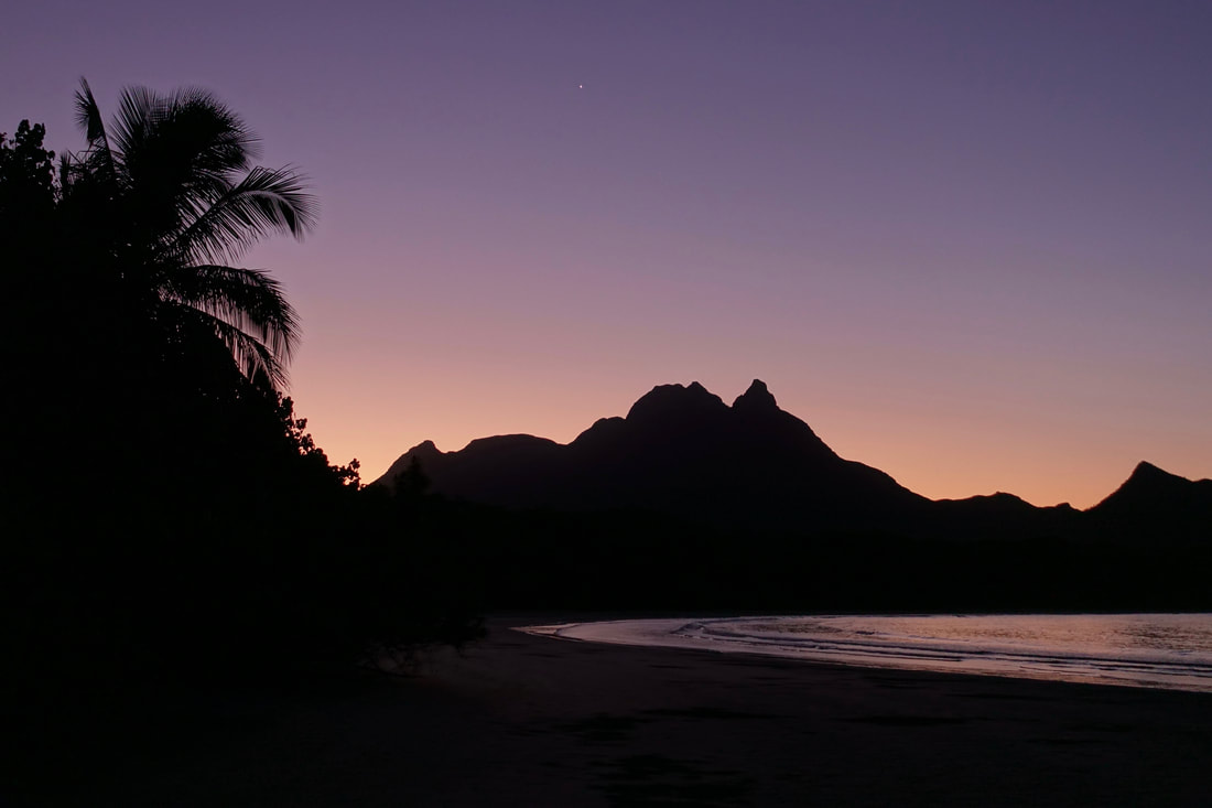 Mount Bowen from Zoe Bay at Sunset