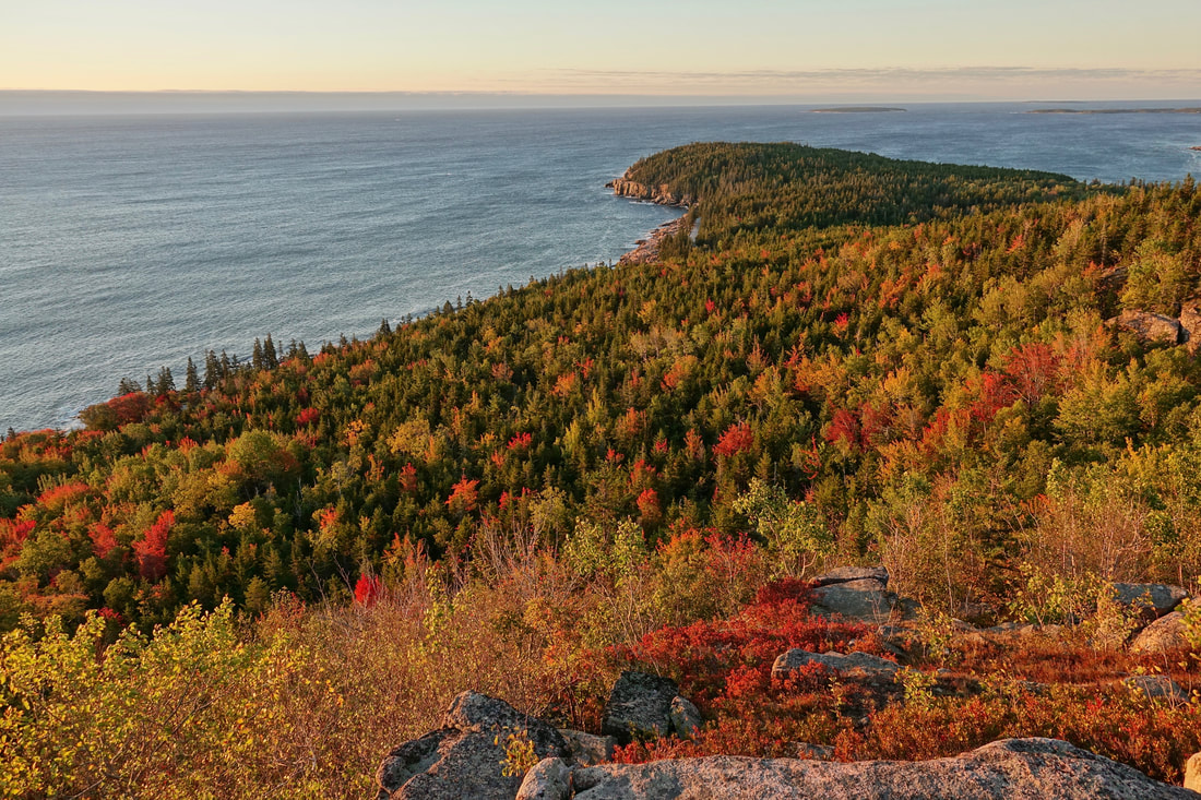 Gorham mountain sunrise summit hike in Acadia National Park, Maine