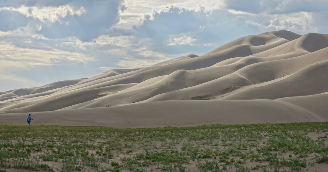 Star dune hike in Great Sand Dunes national park in Colorado