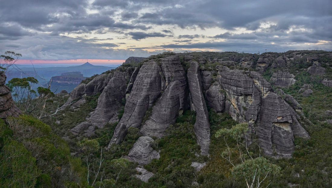 Mount Mooryan from Shrouded Gods Mountain in the Budawangs of Australia