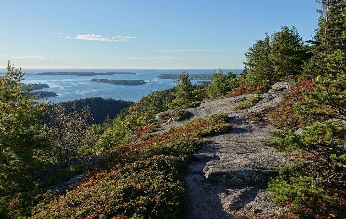 St Sauveur mountain hike and Somes Sound in Acadia National Park, Maine