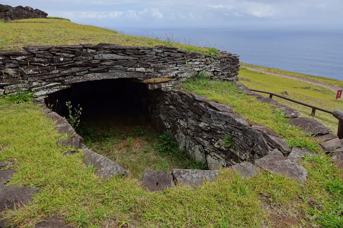 Home at Orongo on Easter Island, Chile