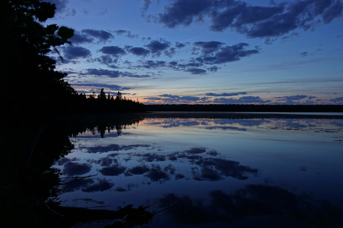Lake Feldtmann sunset, Isle Royale Park Michigan