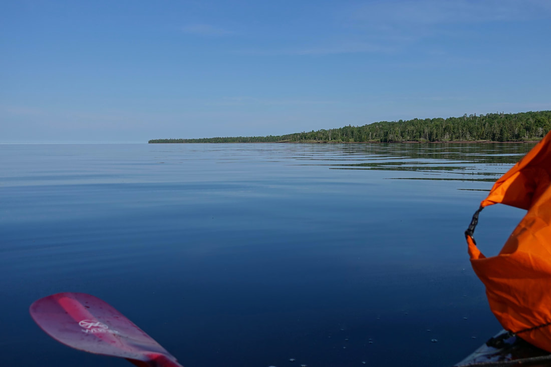 Calm water on Lake Superior in Isle Royale