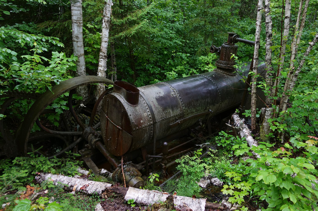 Steam engine at a mine in Isle Royale National Park