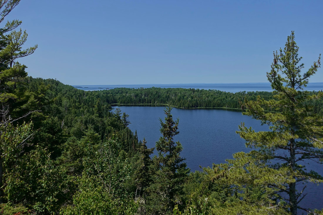 Otter Lake from the Minong ridge trail in Isle Royale