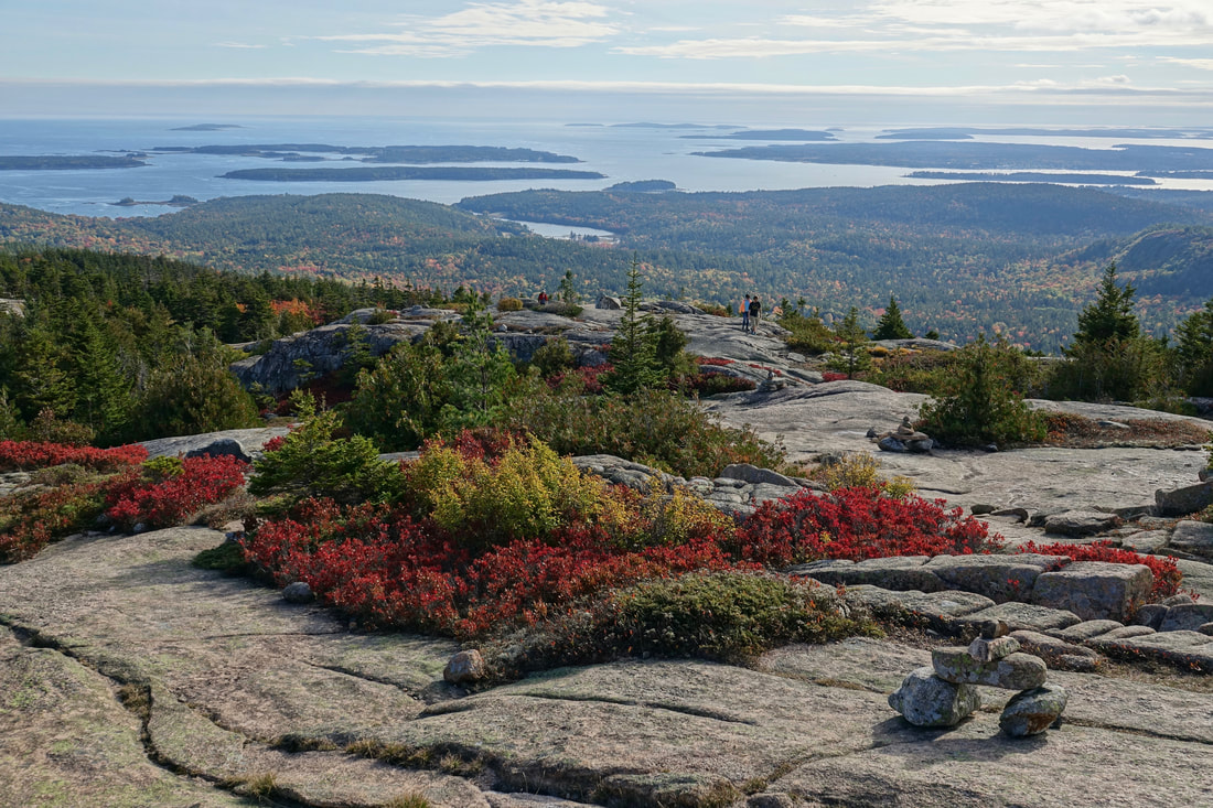 Pemetic mountain summit hike in Acadia, Maine