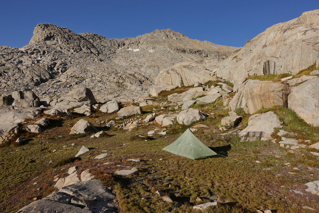 Blue lake camp on the Sierra High Route
