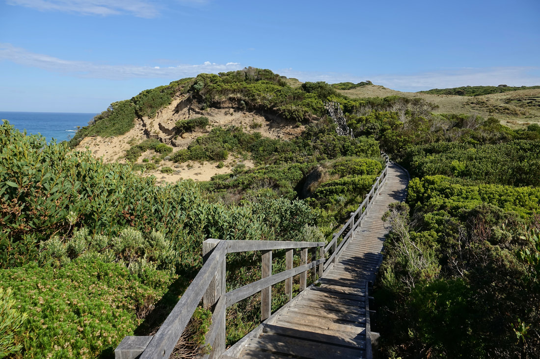 Approaching Cape Otway on the Great Ocean walk in Austrailia