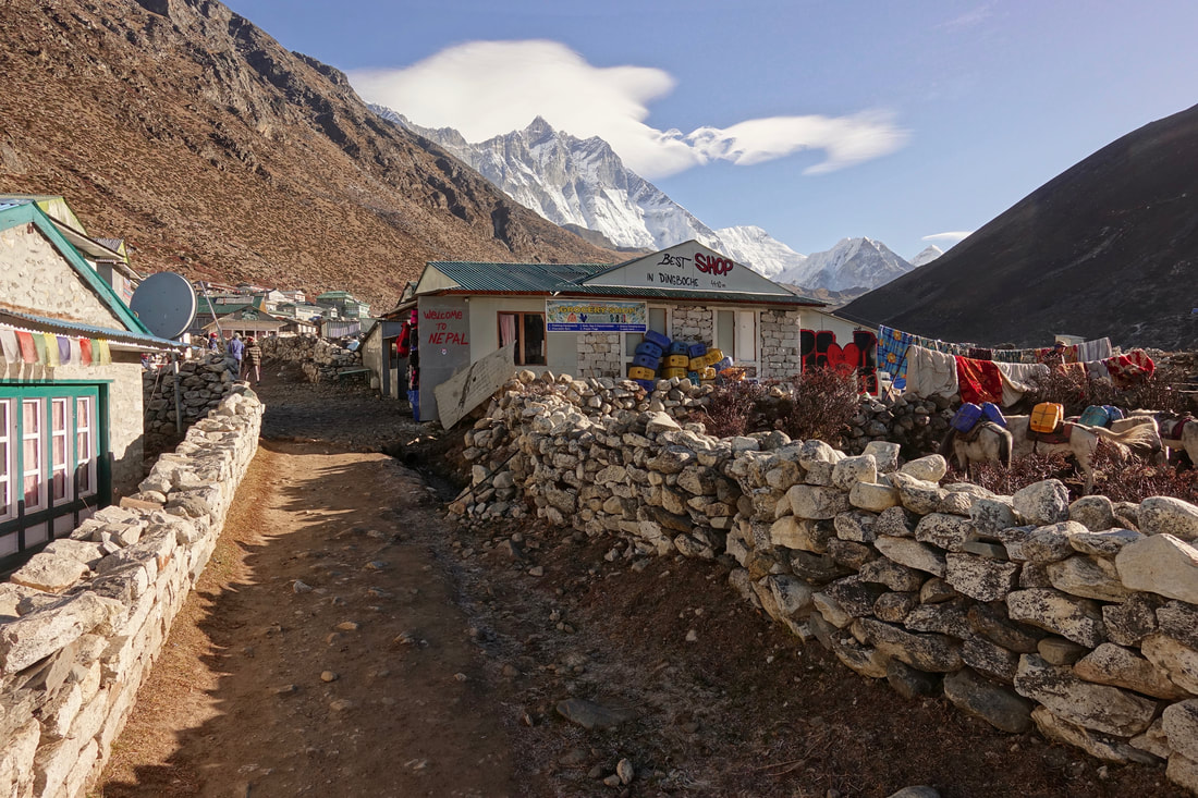 Village of Dingboche en route to Chukhung on the Three Passes Trek